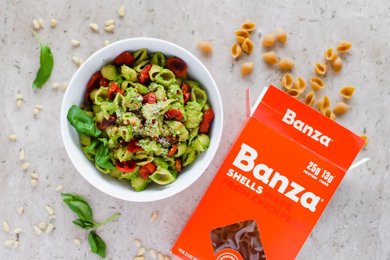 Banza Shells and Pea Pesto