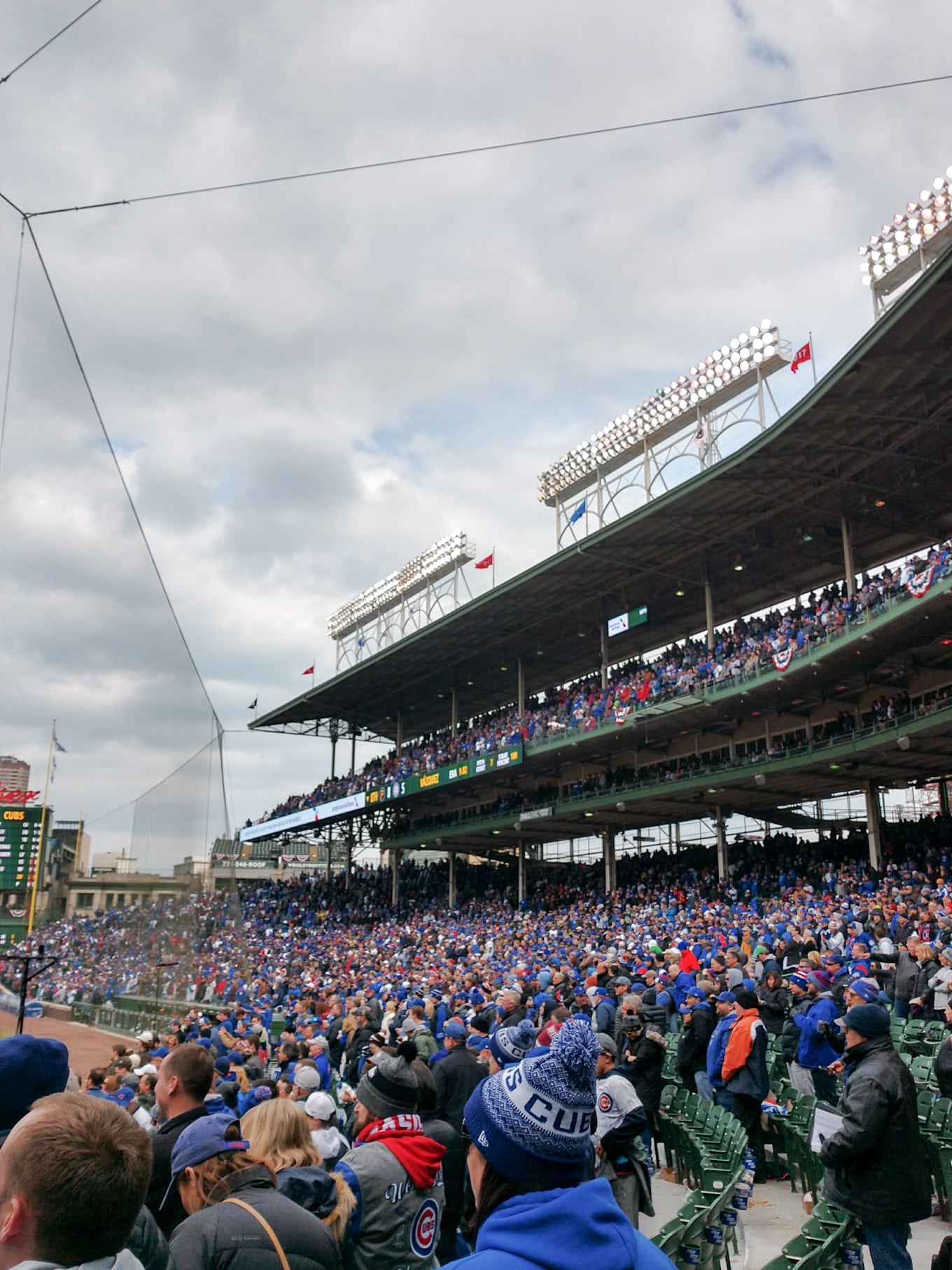 Cubs Home Opener with the Moto z2Force!
