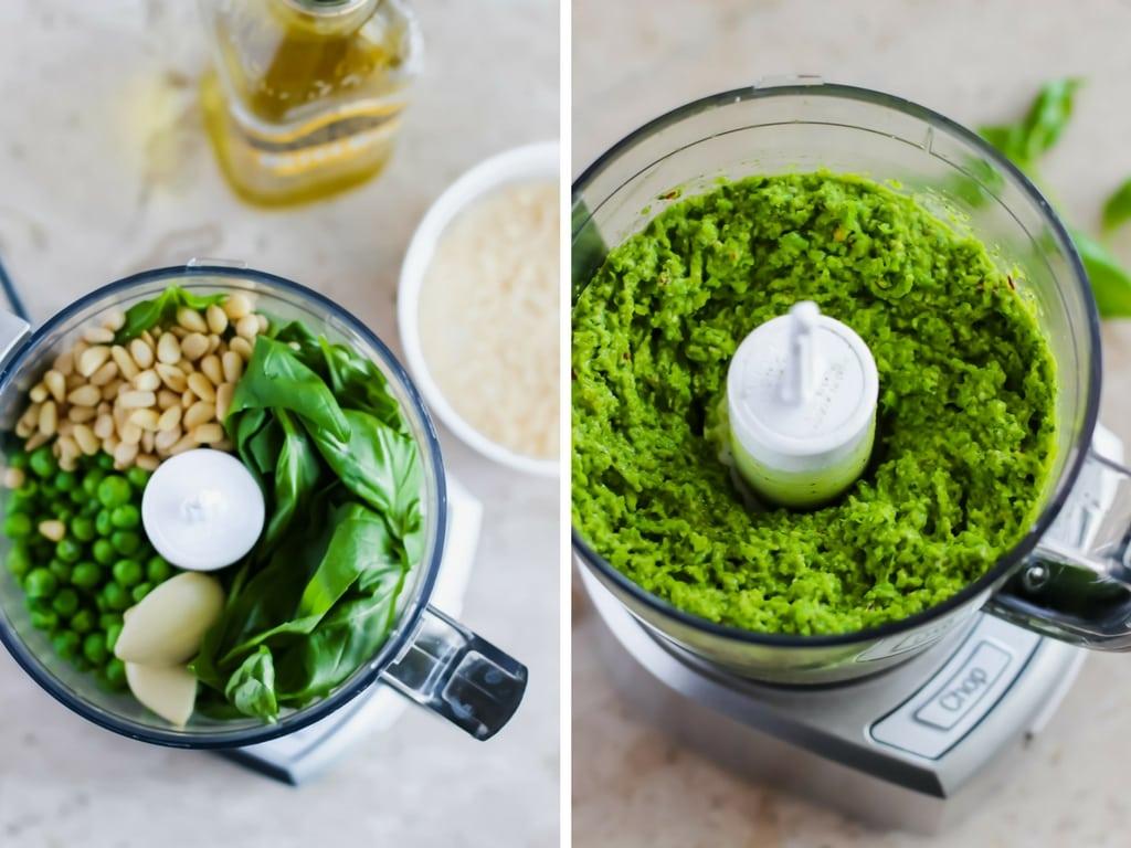 How to make pea pesto