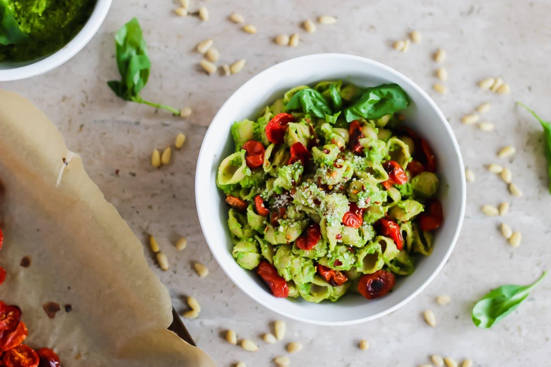 how to make pea pesto pasta