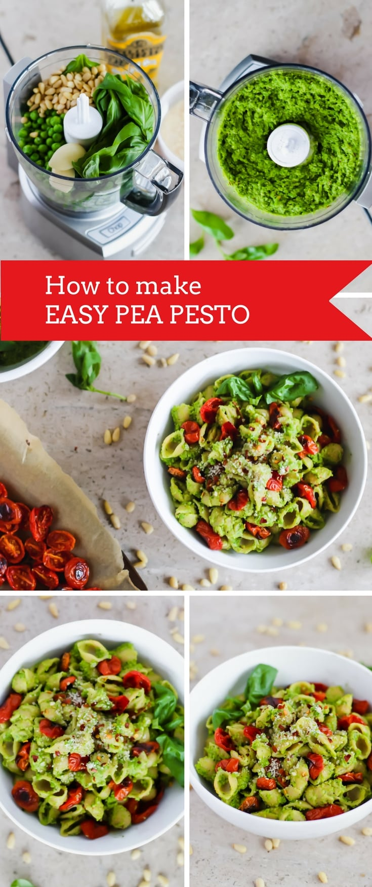 How to make Easy Pea Pesto with Roasted Tomatoes