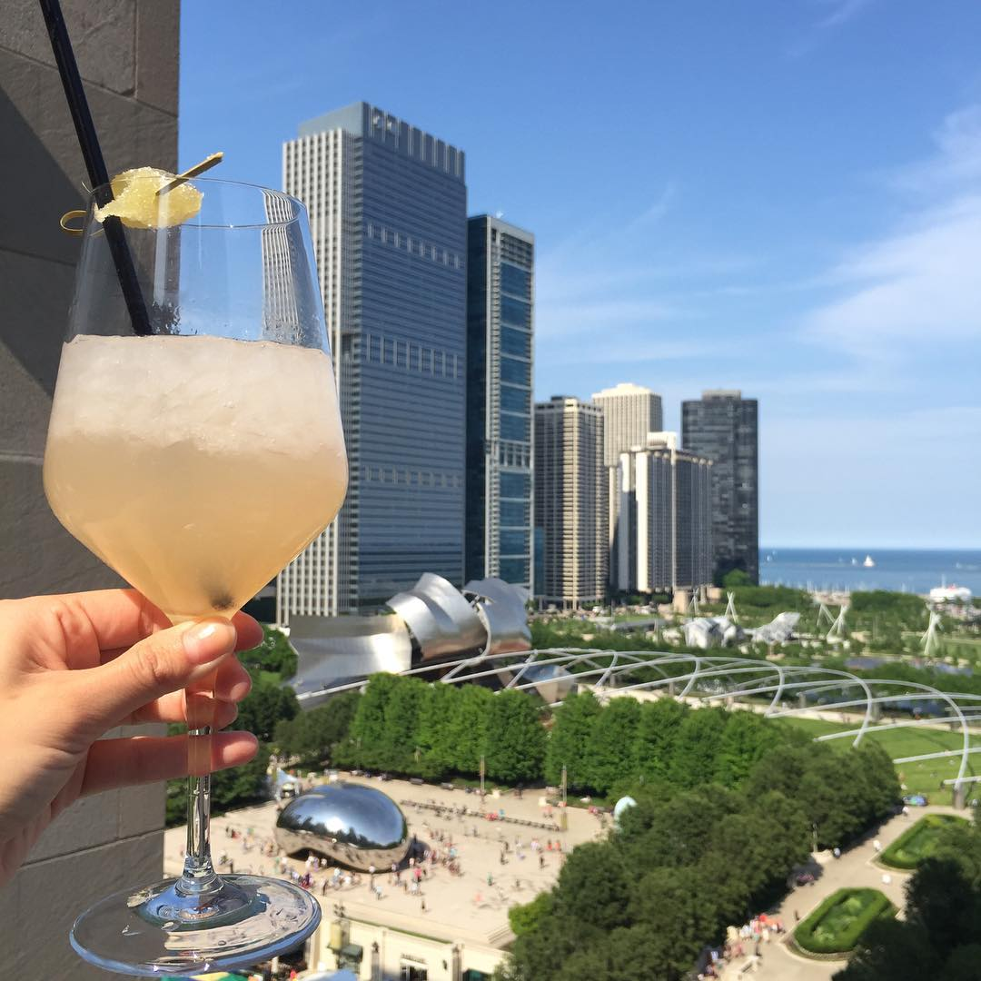 Drinks with a view in Chicago during Summer months