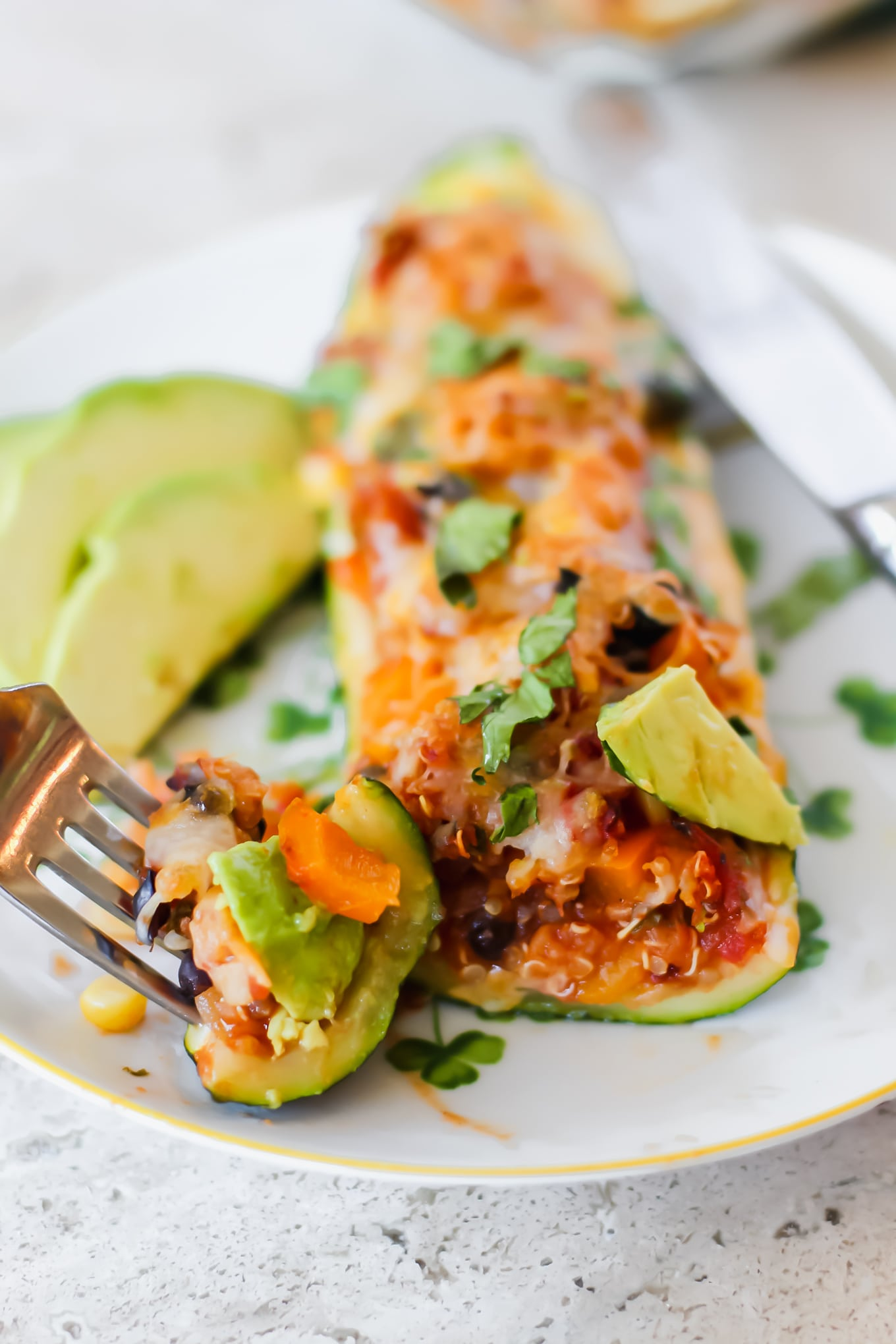 Vegetarian Zucchini Taco Boats Meal