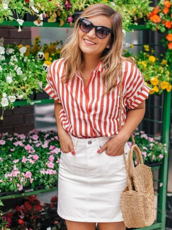 red and white shirt