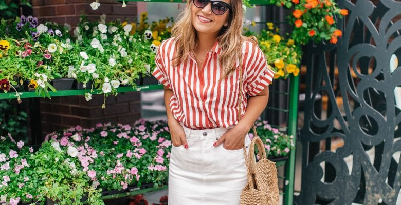 The Perfect Red and White Shirt for the 4th of July