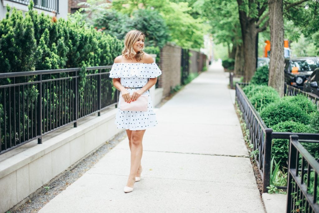 ASOS polka dot dress - Lake Shore Lady
