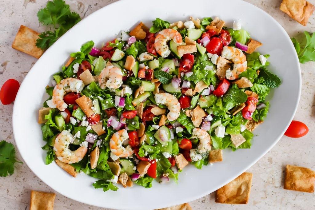 Shrimp Fattoush Salad