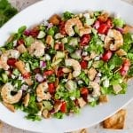 Easy Shrimp Fattoush Salad