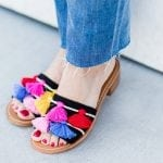 Polka Dots and Tassel Sandals