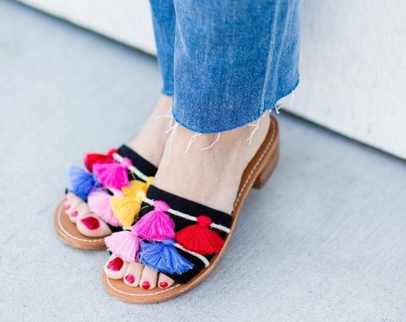 tassel sandals - lake shore lady