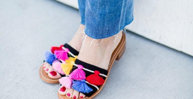 Polka Dots and Tassel Sandals