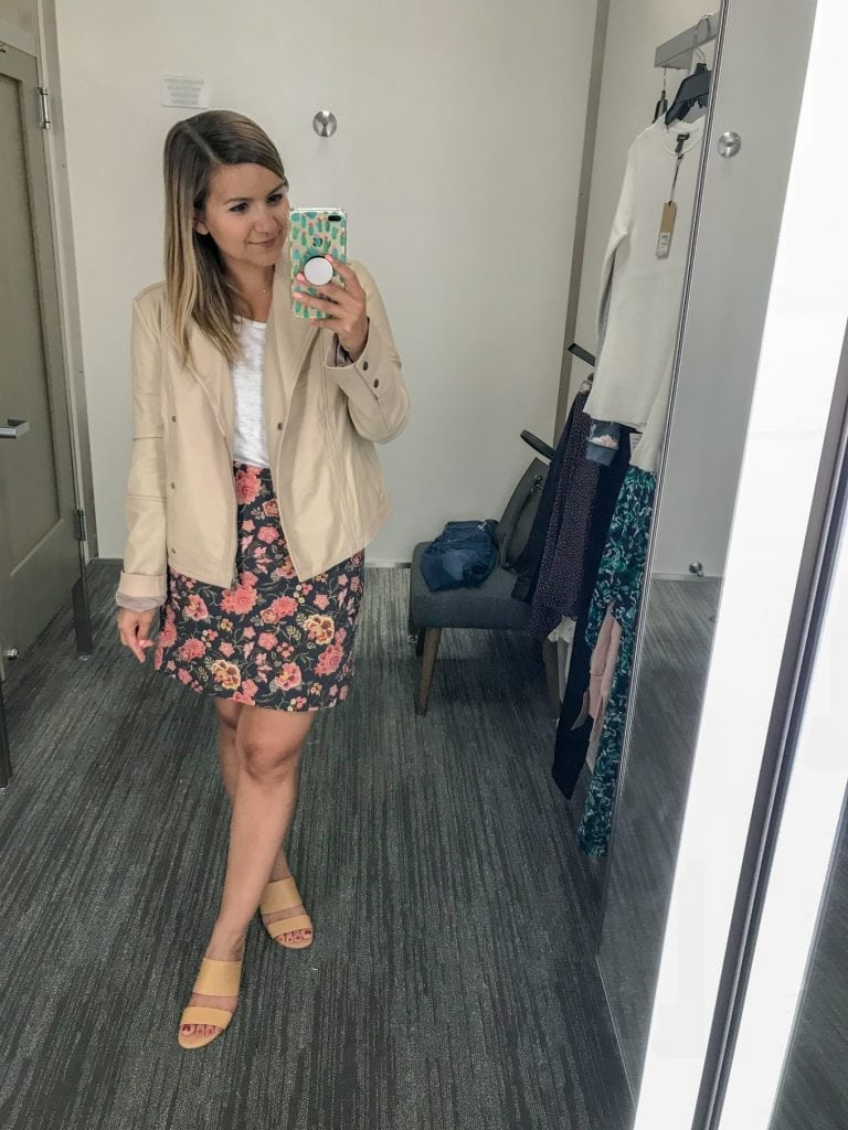 Hinge Feminine Leather Moto Jacket - Nordstrom Sale