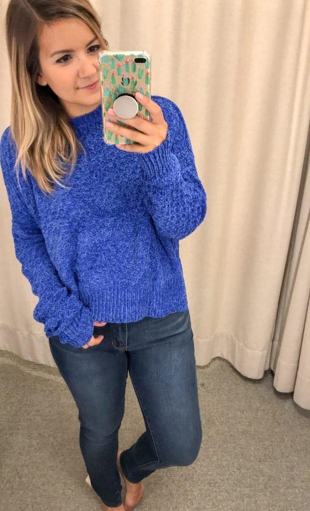 Woven Heart Chenille Sweater