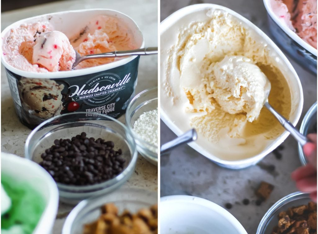 Build-Your-Own Ice Cream Sundaes with Hudsonville Ice Cream | Lake Shore Lady