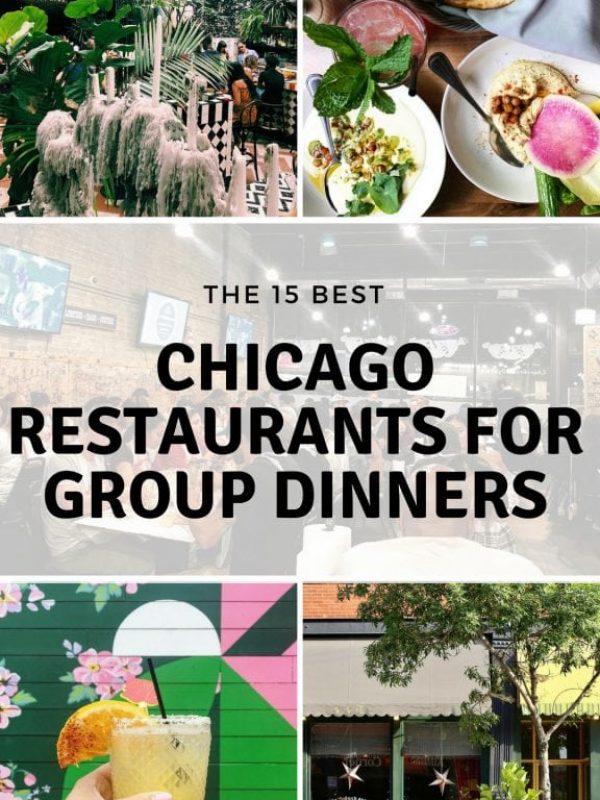 Chicago Restaurants for Group Dinners