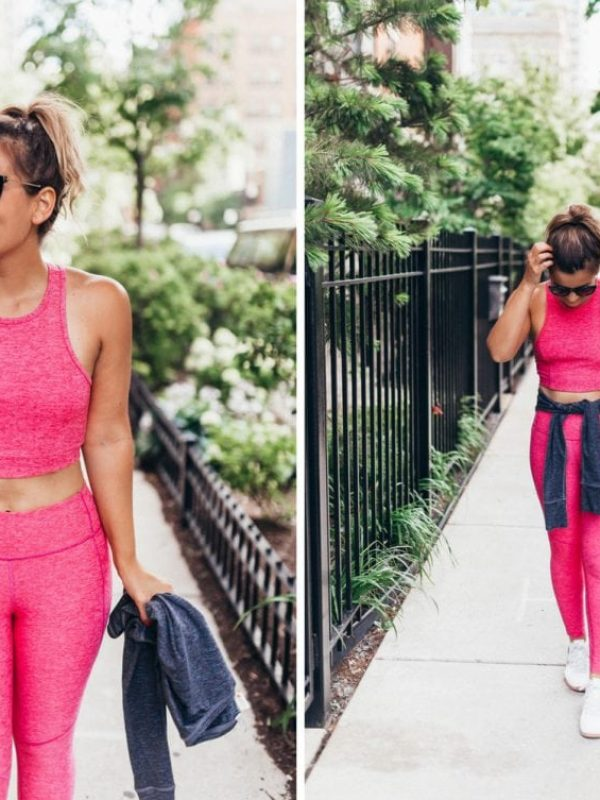 pink outdoor voices crop top and leggings set (1)