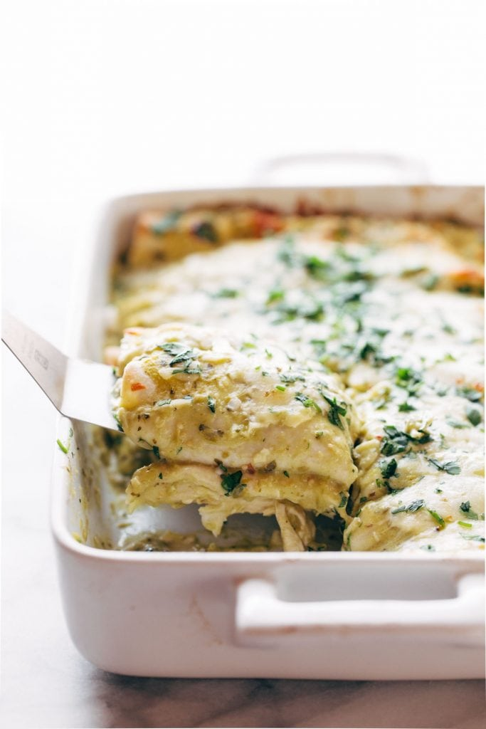 Simple Enchiladas Verdes by Pinch of Yum