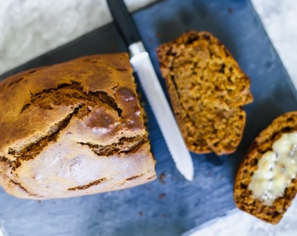 Healthier Pumpkin Bread (+ my new love for California prunes!)