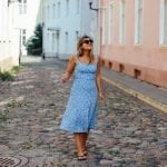 Exploring Tallinn in a Reformation Dress