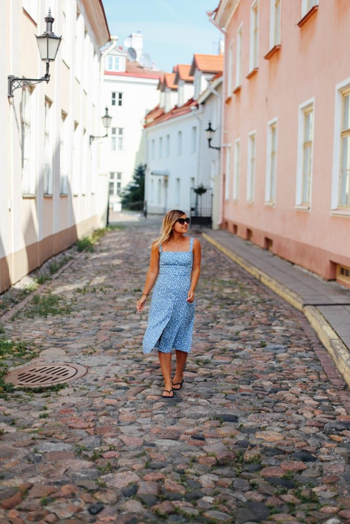 reformation dress - lake shore lady - tallinn, estonia