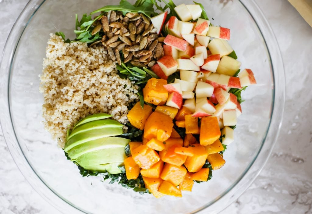 A Fall Salad with Butternut Squash