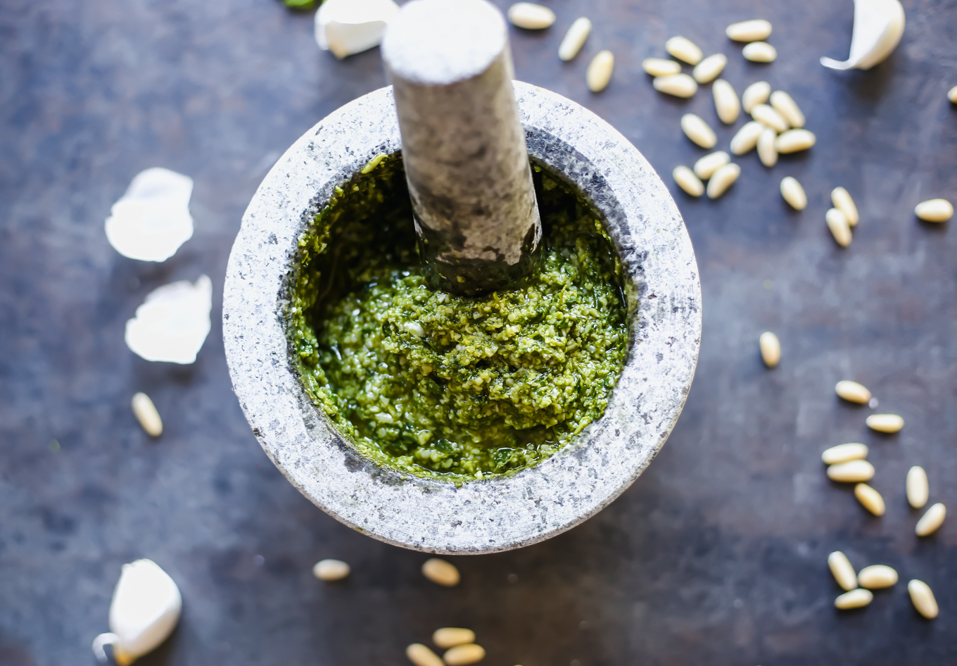 How to make Mortar and Pestle Pesto