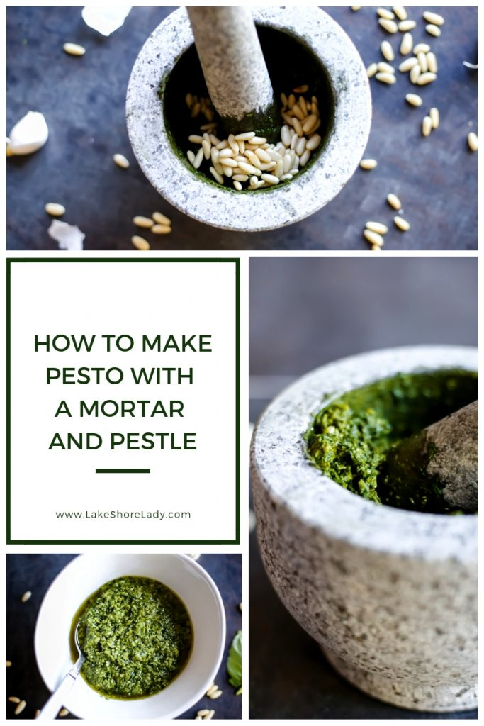 Mortar and Pestle Pesto