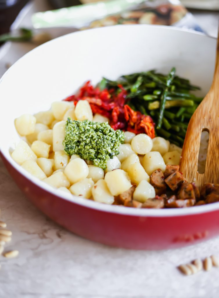 before the ingredients are blended together for this gnocchi recipe