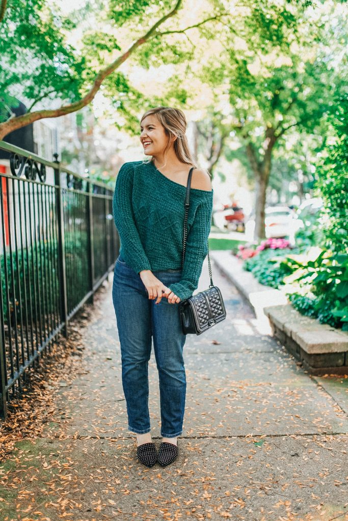 Sweater: Abercrombie | Jeans: Everlane | Bag: Rebecca Minkoff | Shoes: Steve Madden - Lake Shore Lady