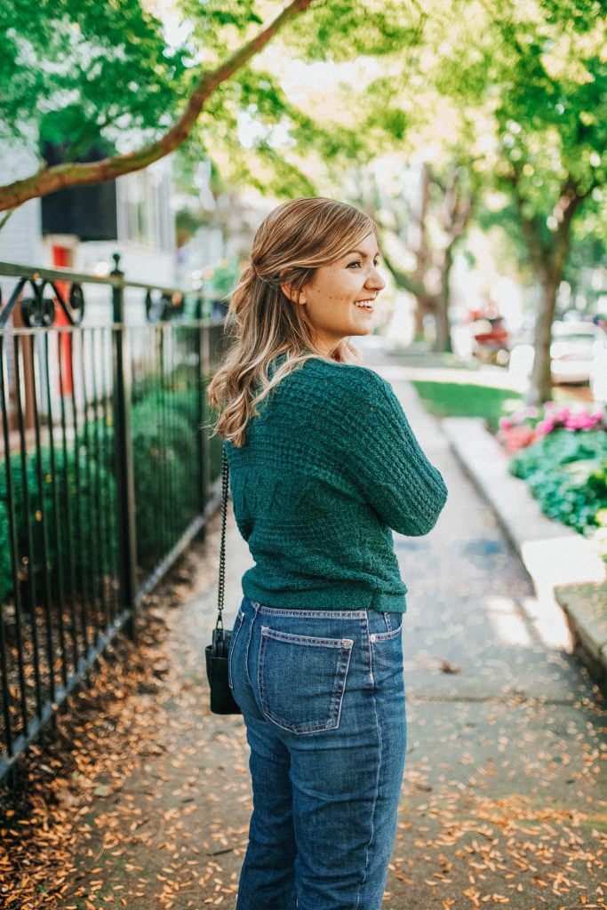 Sweater: Abercrombie | Jeans: Everlane  - Lake Shore Lady
