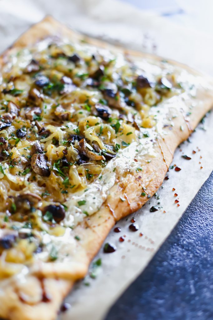 Caramelized Onion Tart with Mushrooms and Alouette Cheese - Lake Shore Lady