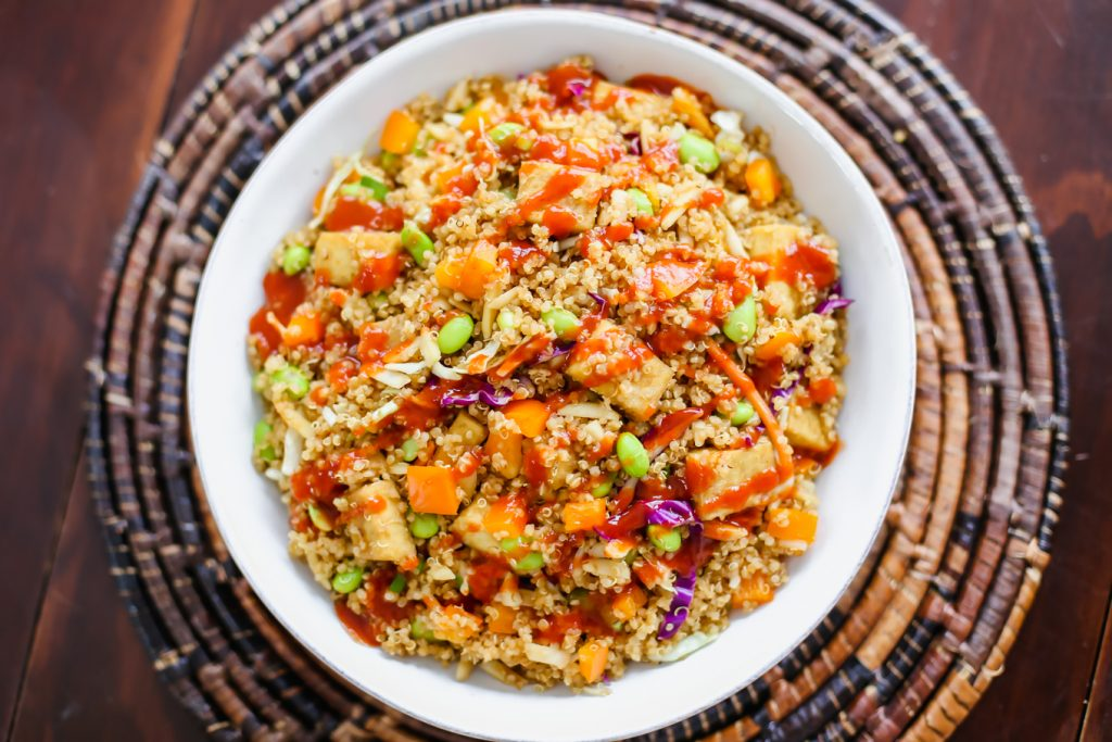 asian quinoa salad - lake shore lady