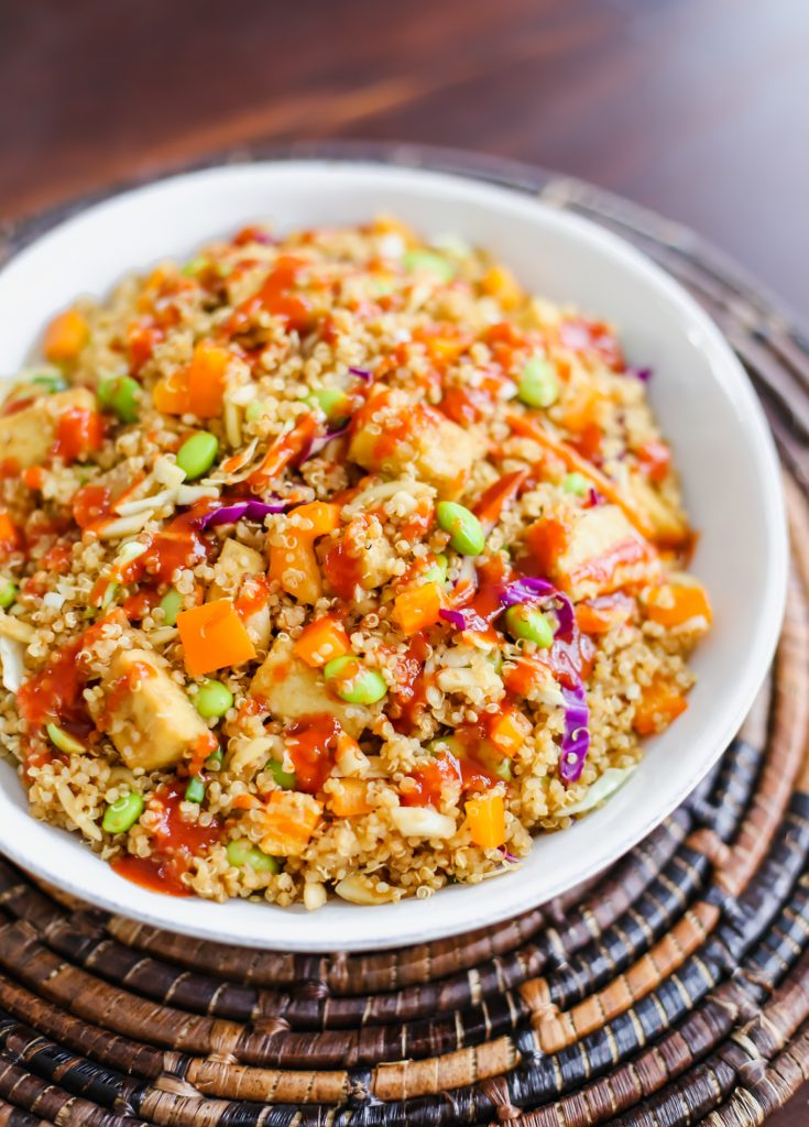asian quinoa salad recipe - lake shore lady
