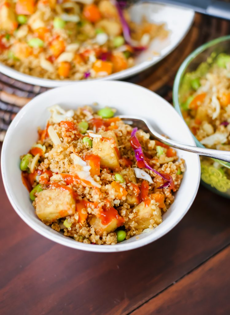 asian quinoa salad recipe by lauren nolan