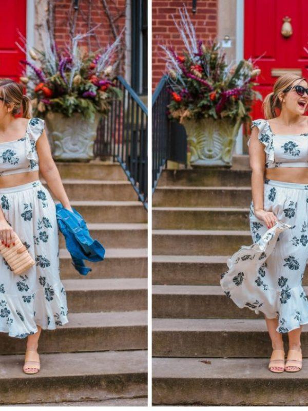 amuse society crop and skirt set (3)