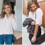 A Clean Silk Shirt That's Perfect for Petites