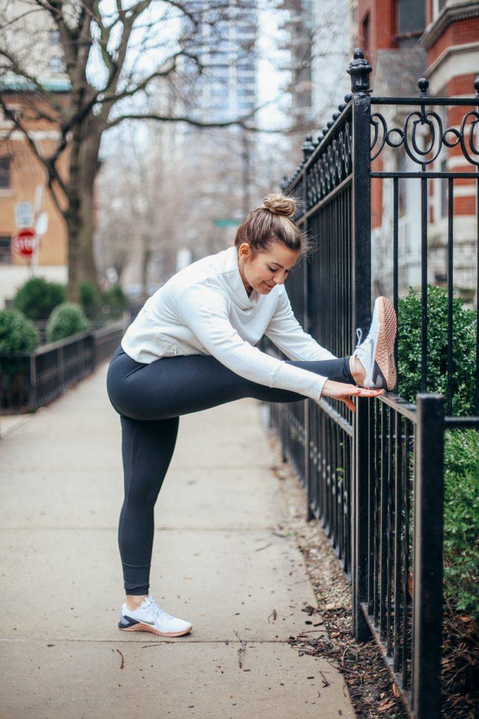 Lauren Nola is wearing Nike Yoga Collection