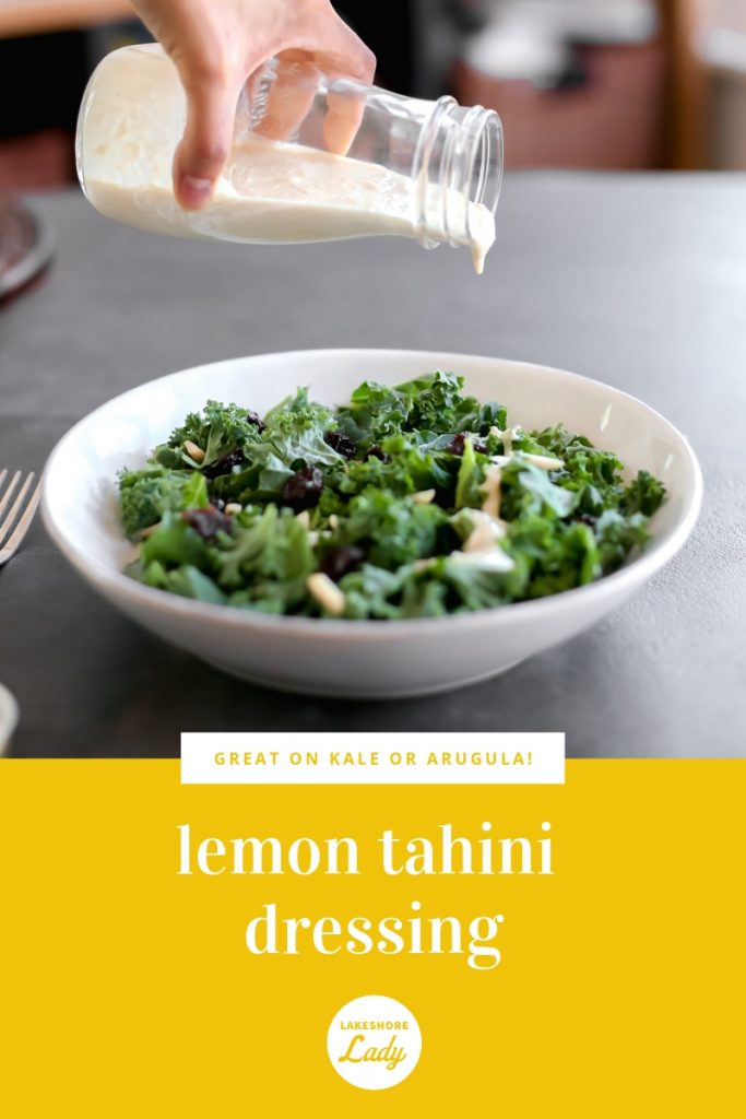 Want to remember this Lemon Tahini Dressing later? Pin the image here!