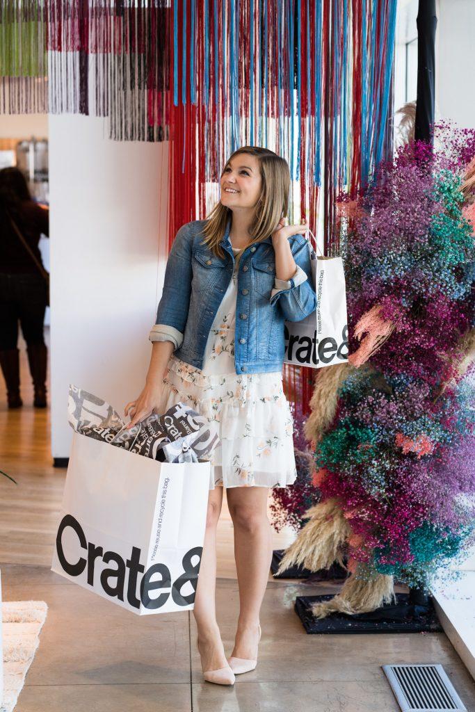 Lauren Nolan at Crate & Barrel Store