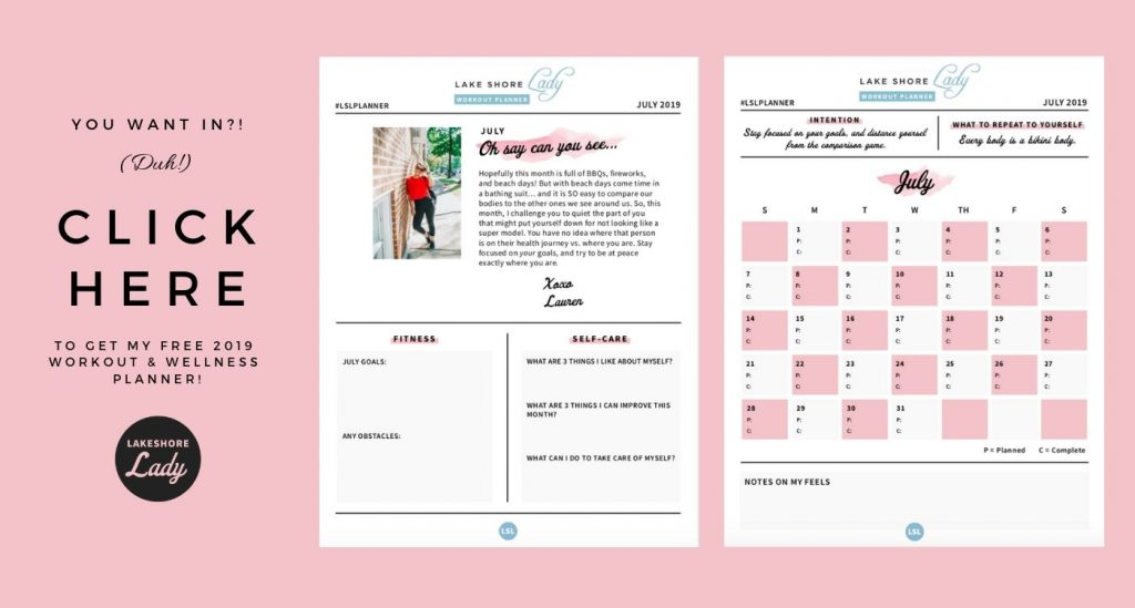 workout planner june 2019