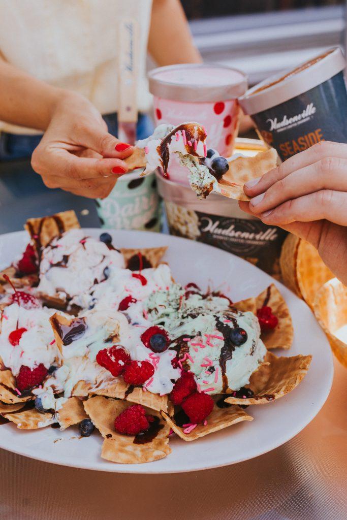 Easy Party Dessert - Ice Cream Nachos