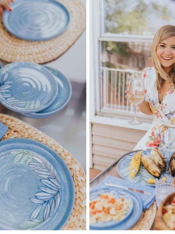 crate and barrel outdoor dinner party