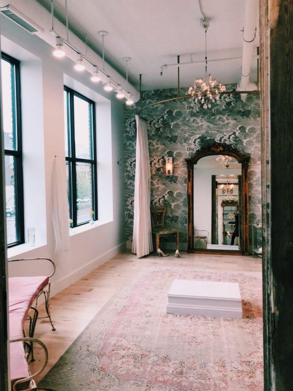 a long hallway where Lauren talks about starting blogging