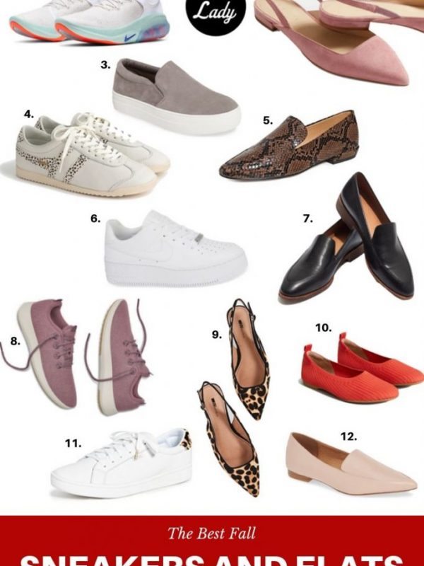 cute sneakers and flats for fall
