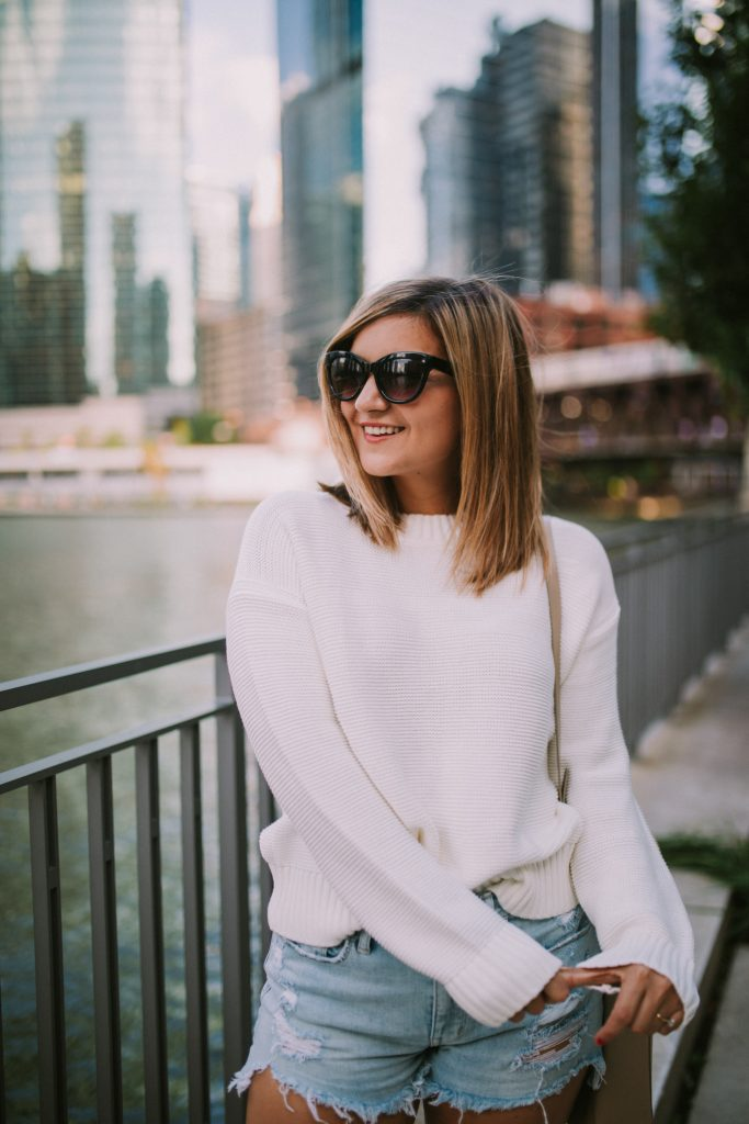on the the everlane cashmere sweaters