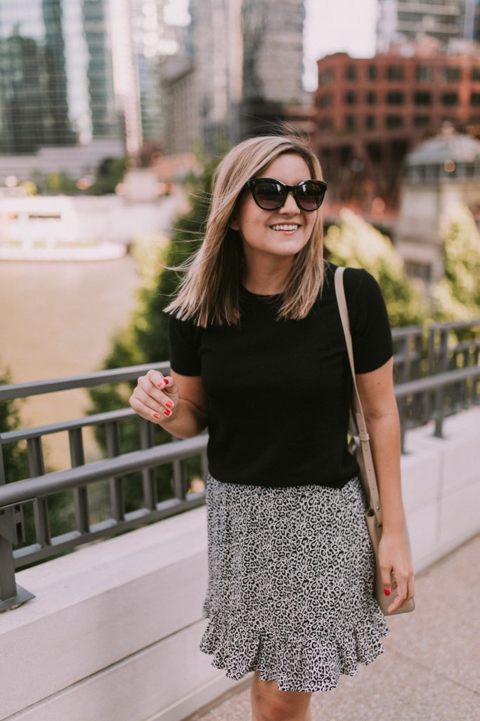 Petite Friendly Items from Everlane black shirt and skirt