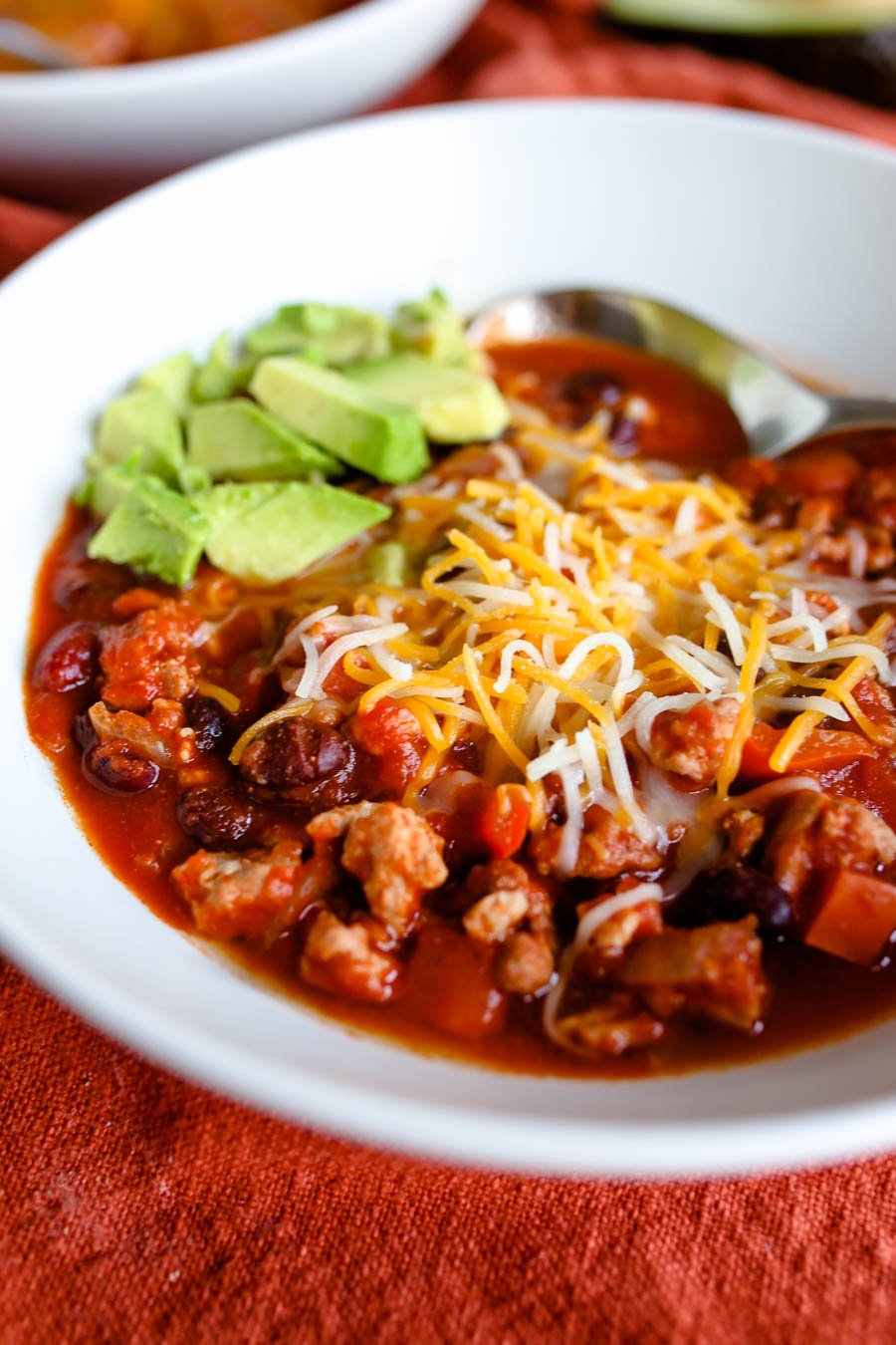 Slow Cooker Turkey Chili [Cooking Video]