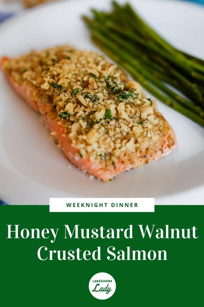 Honey Mustard Walnut Crusted Salmon recipe