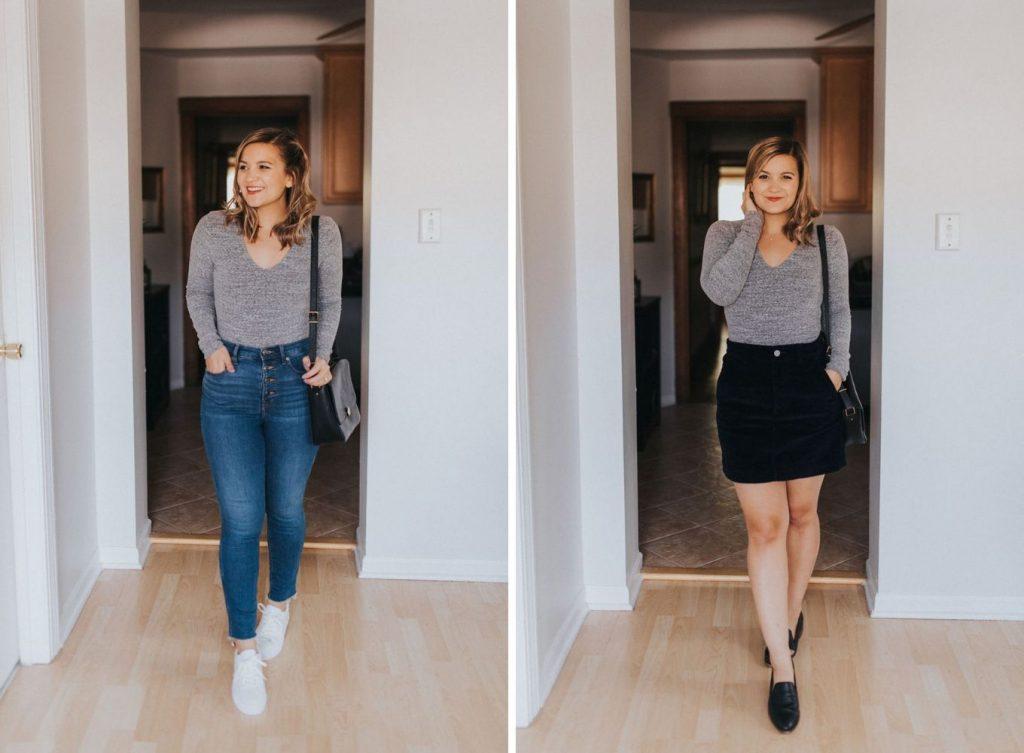 bodysuit Fall Capsule Wardrobe For Petites