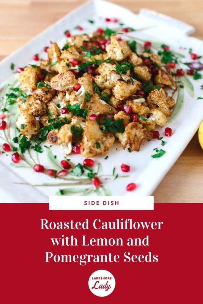Side Dish with Spices, Lemon, and Pomegranate Seeds